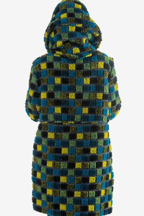 Бутиково вълнено палто с качулка
