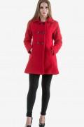 Дамско палто в червен цвят