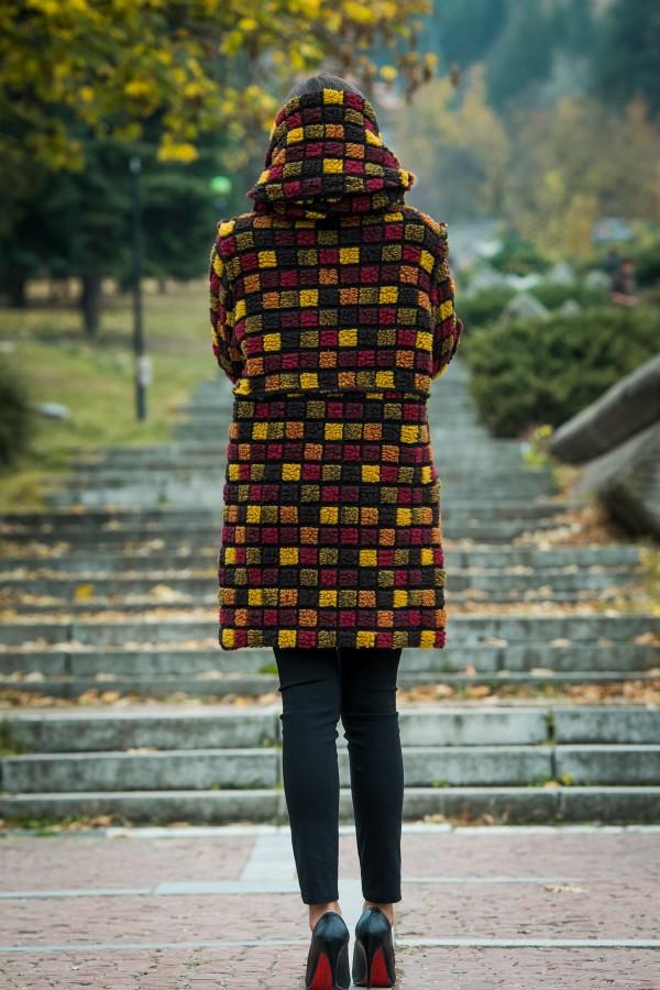 Бутиково вълнено палто