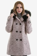 Дамско вълнено палто с вата