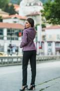 Елегантно палто в лилав цвят