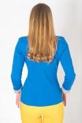 Вталено дамско сако в кралско син цвят
