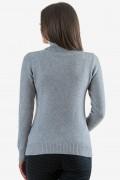 Дамско поло в сив цвят
