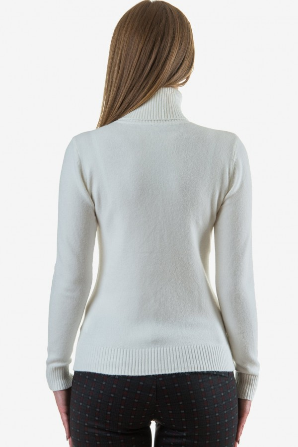 Дамско поло в бял цвят