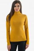 Дамско поло в жълт цвят