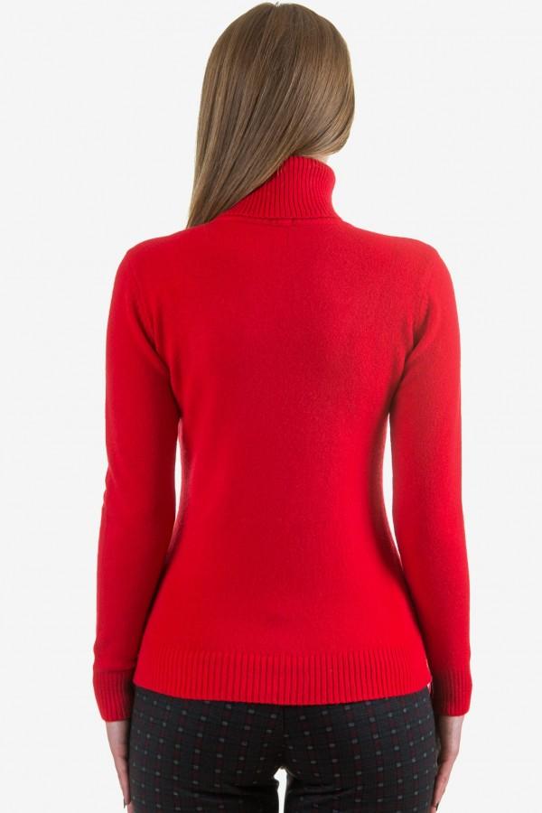 Дамско поло в червен цвят