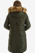 Дамско яке във войнишко зелен цвят
