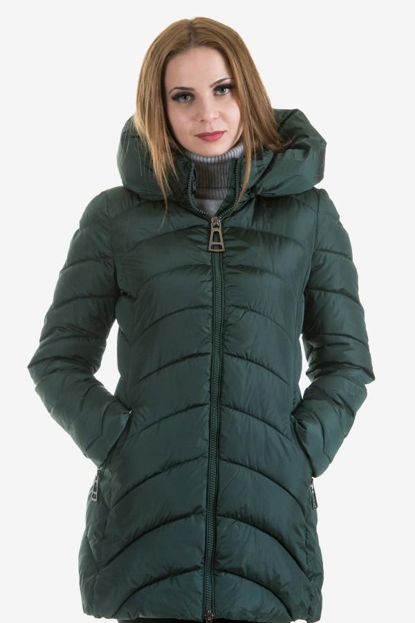 Дамско яке в петролено зелен цвят