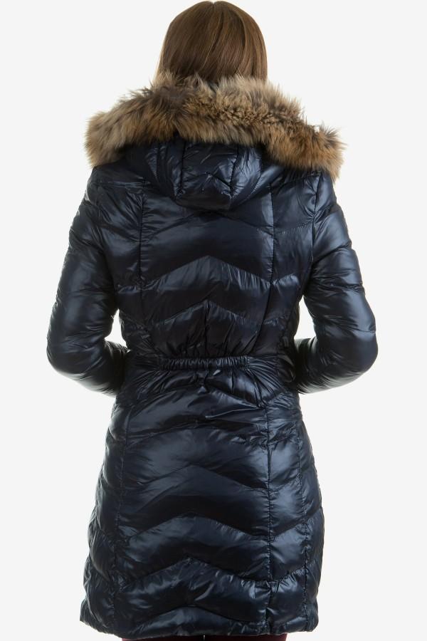Дамско яке с естествен косъм