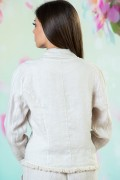 Бежово ежедневно дамско сако от лен