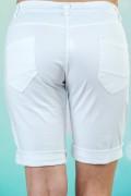Дамски къси панталони в бял цвят