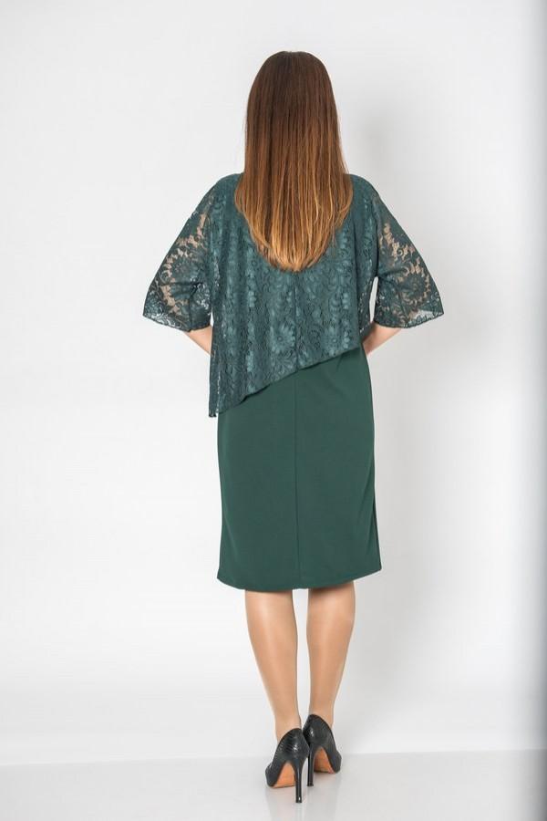 Елегантна макси рокля в петролено зелен цвят