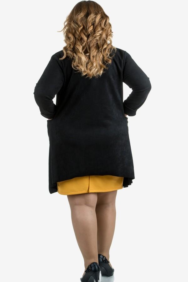 Макси манто в черен цвят