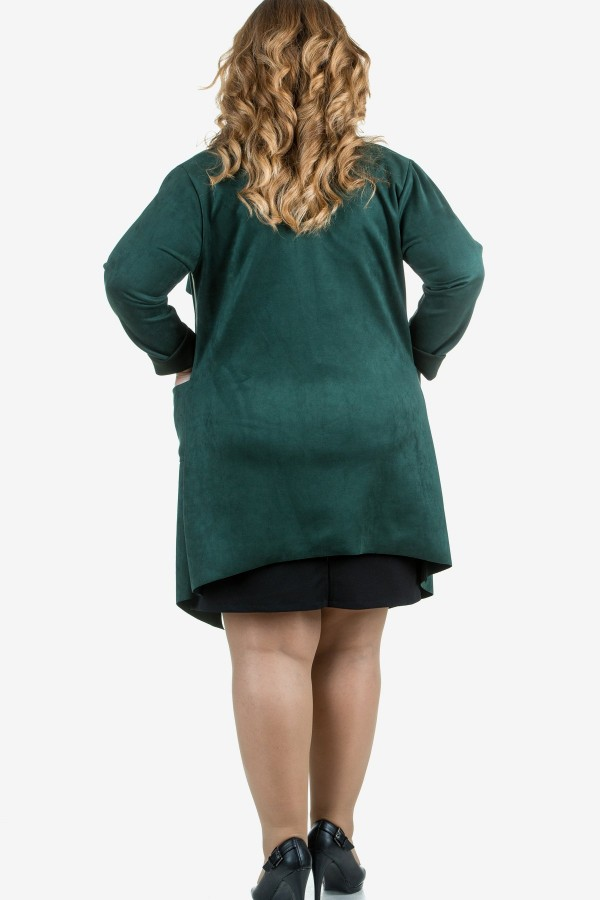 Макси манто в петролено зелен цвят