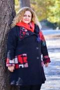 Макси дамско вълнено палто в черен цвят