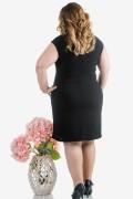 Макси дамска рокля в бежово и черно