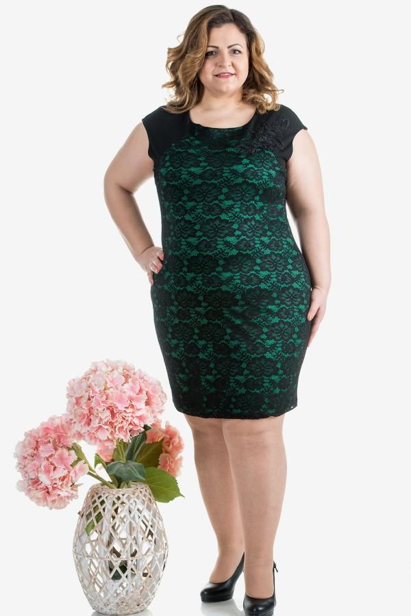 Макси елегантна рокля с дантела