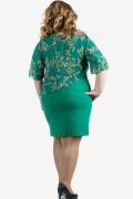 Елагантна рокля с шифон в зелено