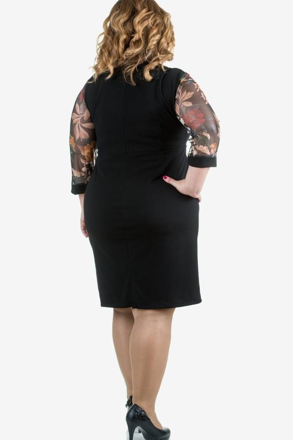 Елегантна рокля с тюлен ръкав