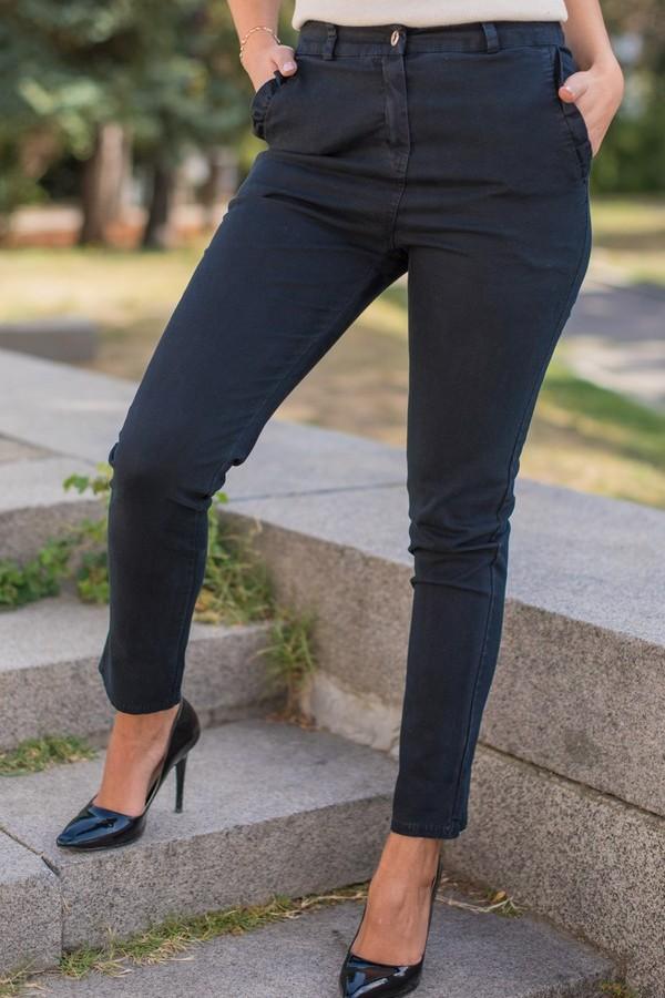 Памучен панталон с италиански джоб в тъмно син цвят