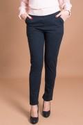 Черен дамски панталон с италиански джоб