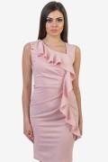 Дамска рокля с ефектни волани