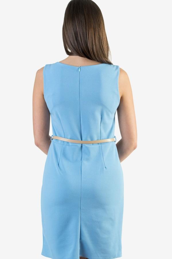 Ежедневна синя дамска рокля
