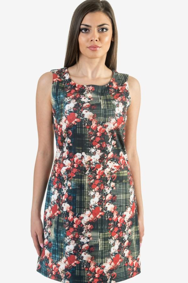 Макси елегантна дамска рокля на цветя