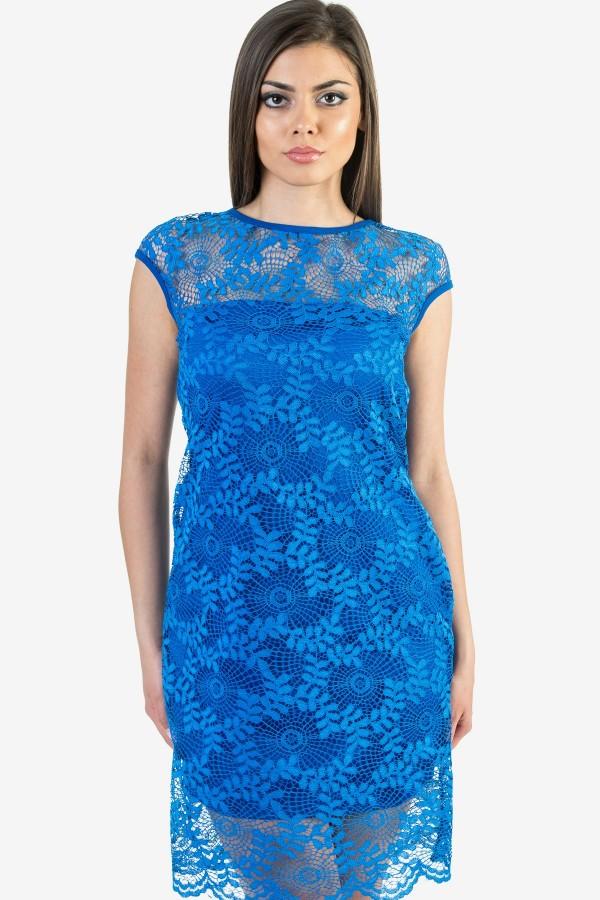 Макси дамска рокля в син цвят